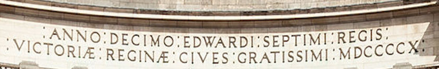 The inscription on Admiralty arch