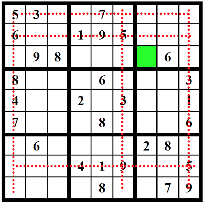 Example of Sudoku possible solution